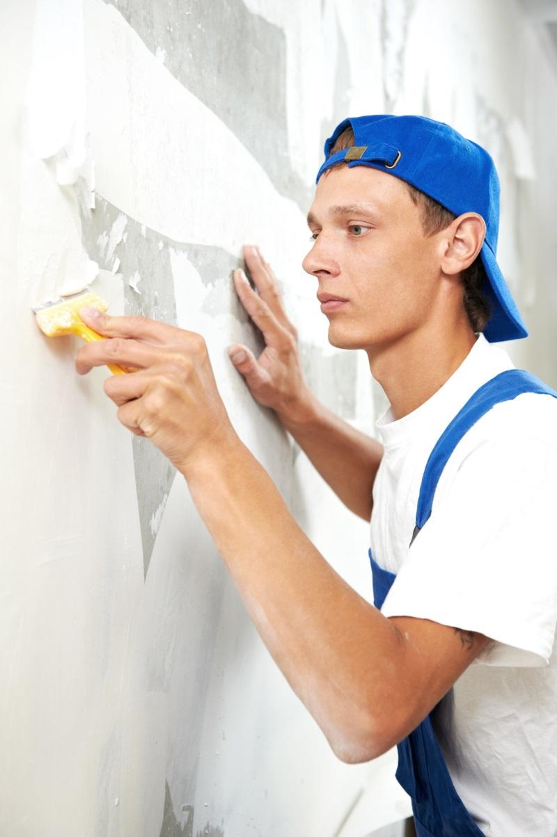 снятие краски со стены фото