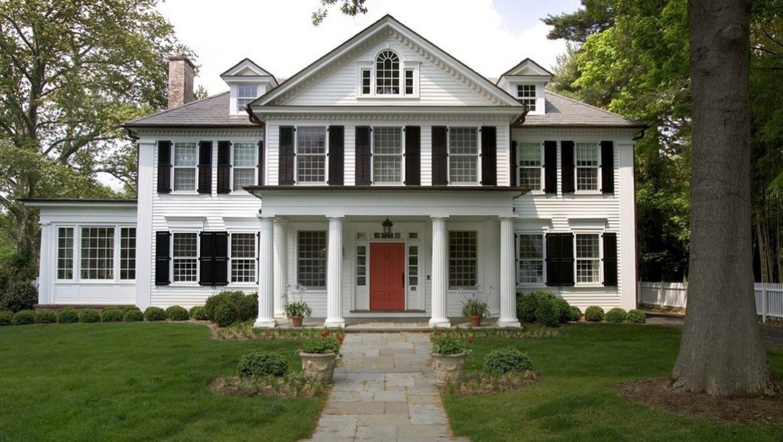 отделка фасада дома в классическом стиле