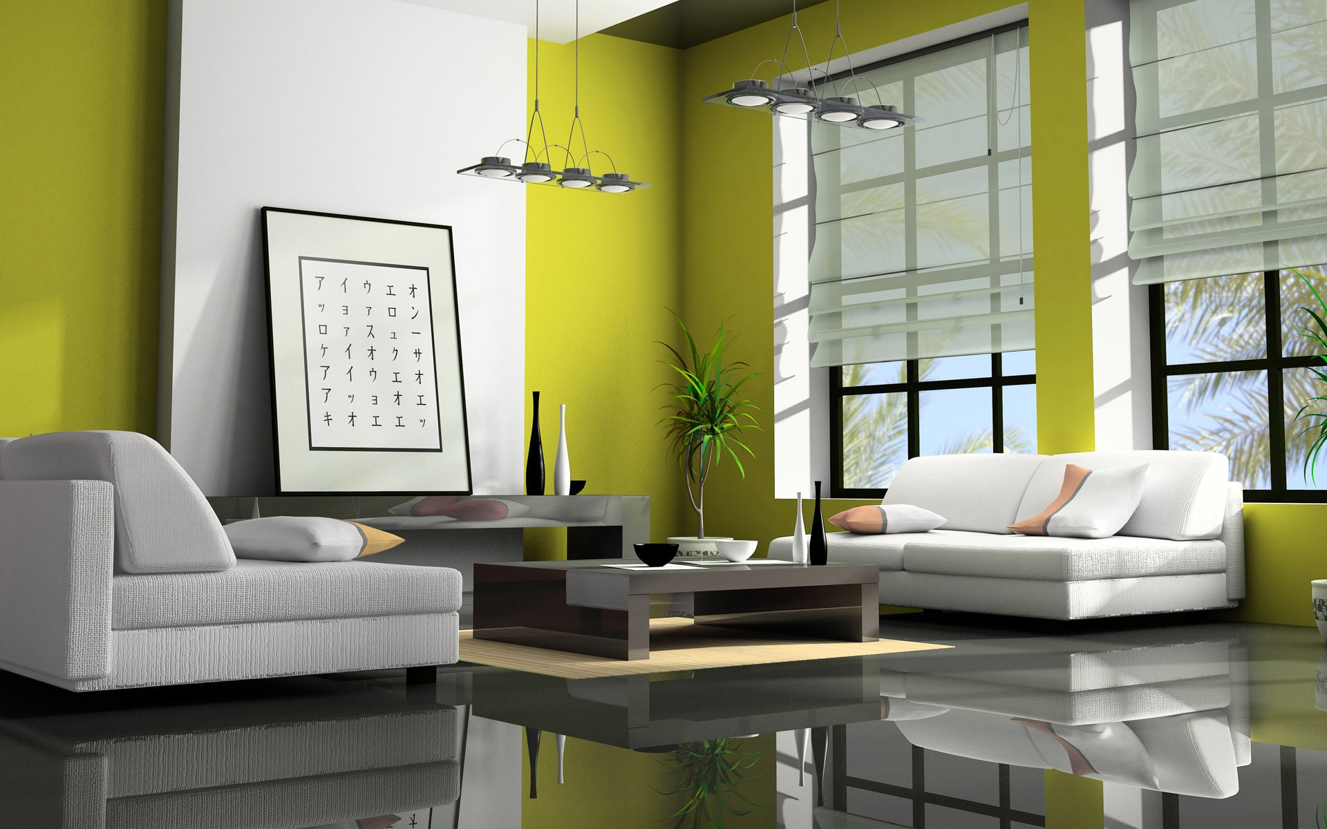 оливковый цвет в интерьере фото