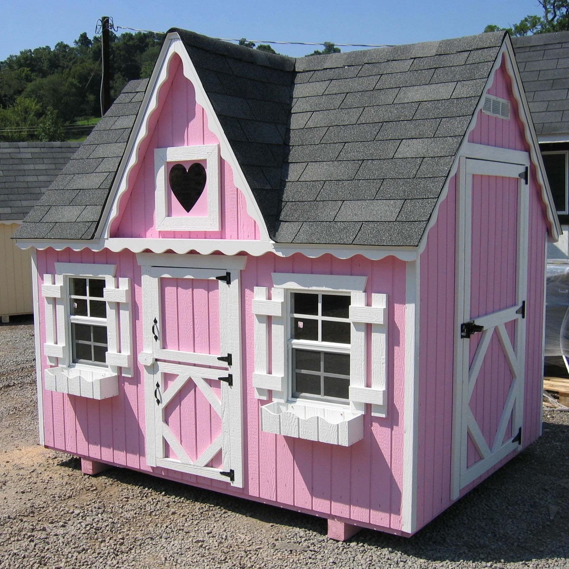 Игрушечные домики на даче своими руками фото