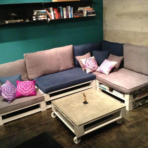 Как сделать диван из паллет