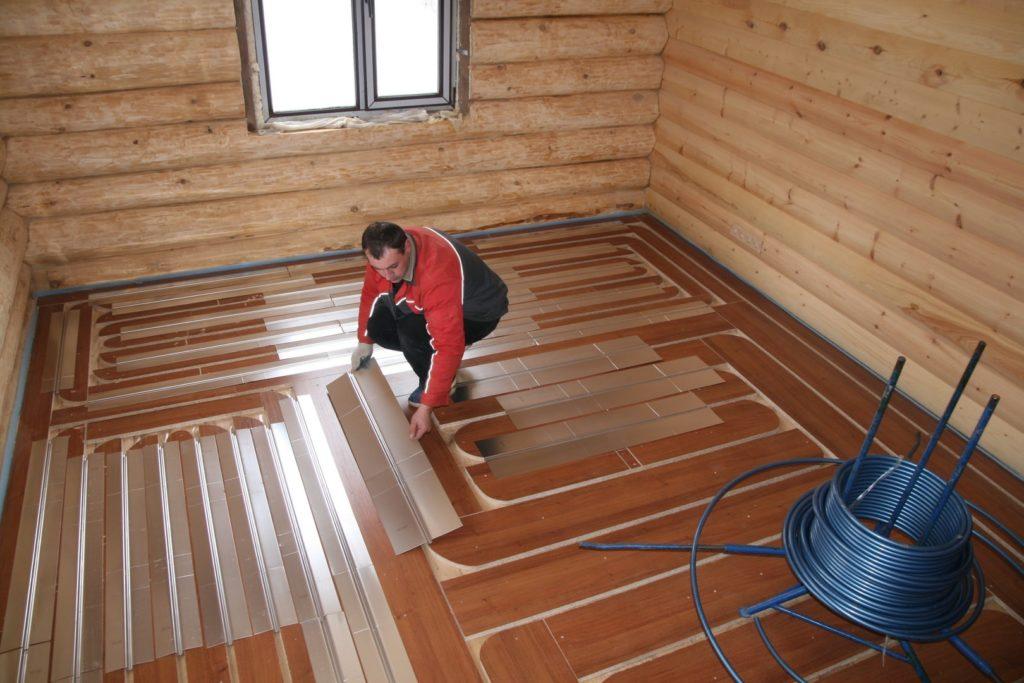 Как сделать теплый пол на деревянном полу  984