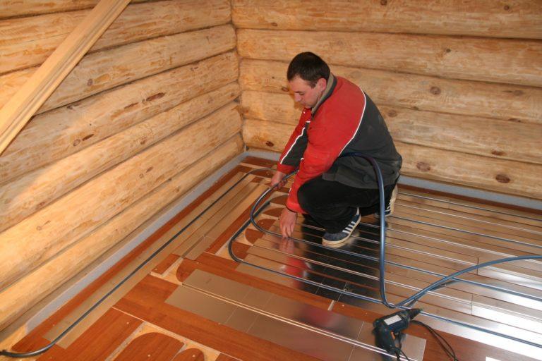 Как сделать водяной теплый пол в деревянном полу