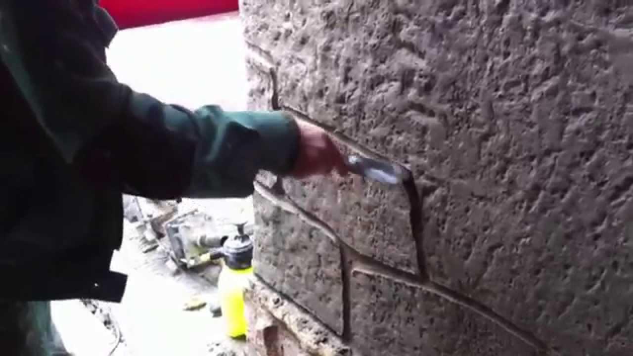 кладка бетонного камня фото
