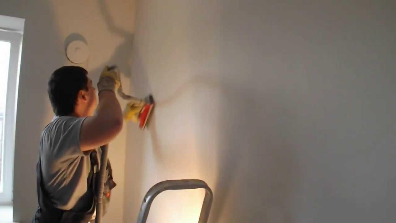 зашкуривание шпаклевки без пыли