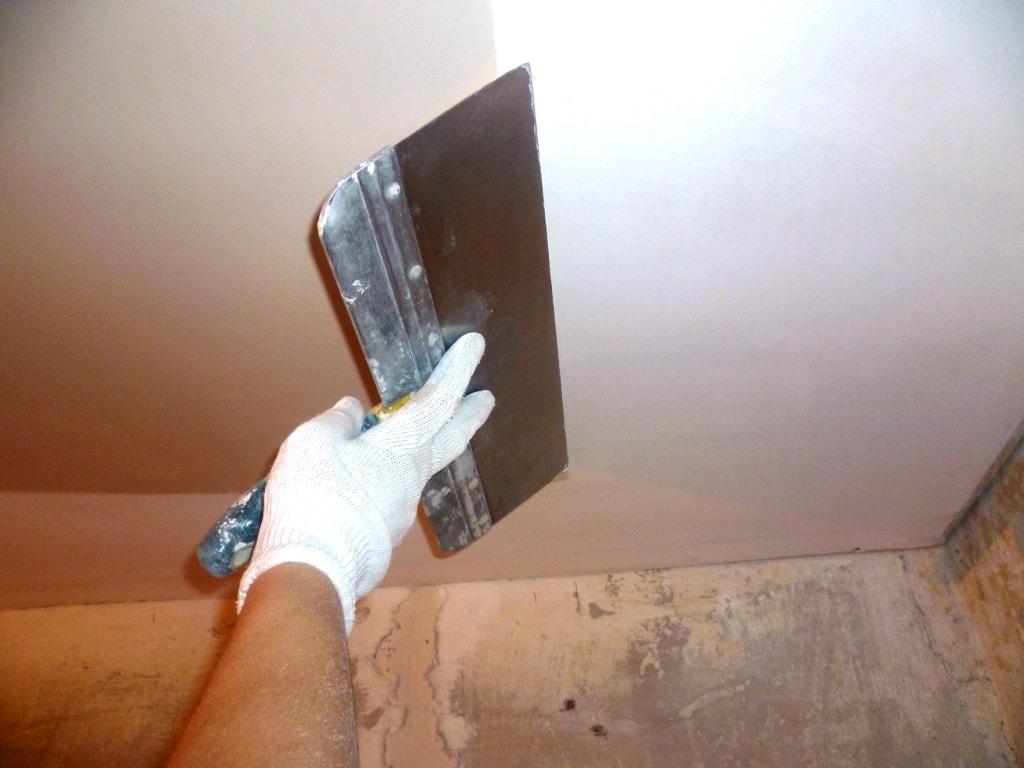 шпаклёвка потолка фото