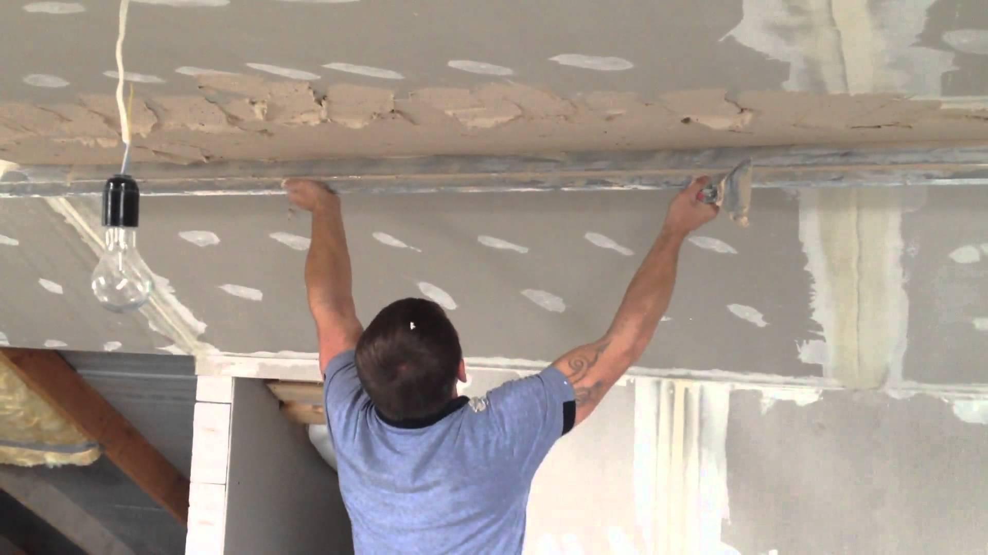 Как заштукатурить потолок из гипсокартона