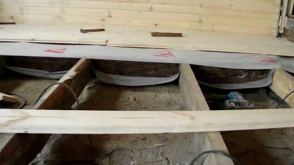 теплоизоляция пола в доме фото