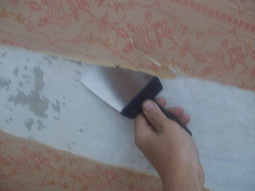 удалить побелку с потолка фото